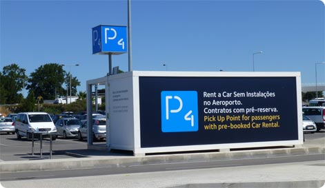 Pick up point Faro Airport